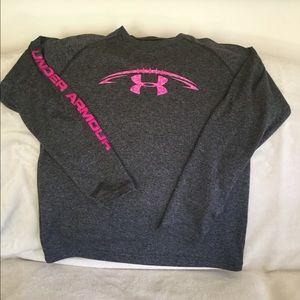 Boys long-sleeve Under Armour dri-fit shirt
